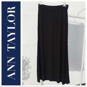 NWT Long Black Rayon Skirt